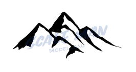 Aufkleber Berg Motiv 7 (2 Stück)