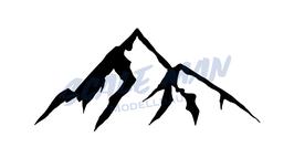 Aufkleber Berg Motiv 6 (2 Stück)