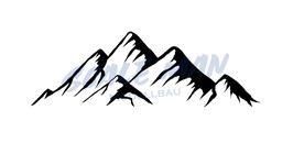 Aufkleber Berg Motiv 2 (2 Stück)