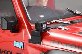 Zusatzscheinwerfer mit Halter für Rubicon SCX10.3 (2 Stück)