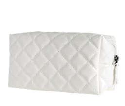 Patent Cosmetic Bag white