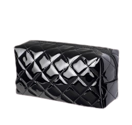 Patent Cosmetic Bag black