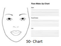 Make up Charts / Fogli d'esercizio