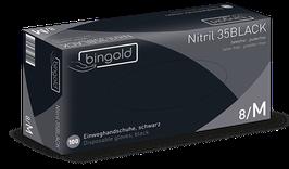 Nitril-Einweghandschuhe 100 Stk/Box schwarz