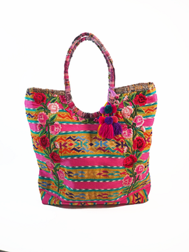 """Gypsie, Hippie, Boho Handtasche """"Pink"""" aus Mexiko"""