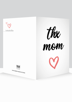 "Grußkarte ""Muttertag - thx mom"""