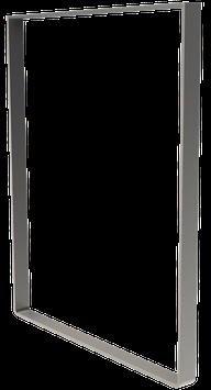 Pied de table BaYa H 87 x Larg 70 cm Acier inoxydable satiné mi-mat
