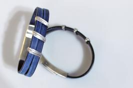 Lederarmband Vintage Blue Steel