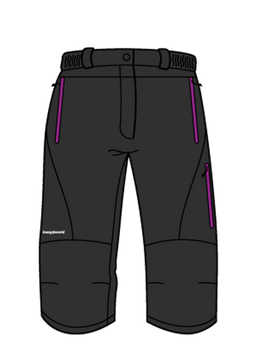 TRANGO pantalón pirata TERVOS 812 Negro