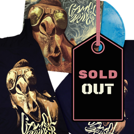 CAMEL DRIVER - CAMEL DRIVER (blue/white marbled) LP & T-SHIRT BUNDLE