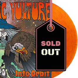"ATOMIC VULTURE - INTO ORBIT (orange/red marbled 12"" LP) EXCLUSIVE PINK TANK RECORDS EDITION"