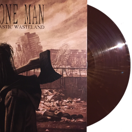 BONE MAN - PLASTIC WASTELAND (dookie brown/bronze splatter) LP