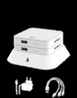 NECTAR 2ER STACK / Powerbank (Lädt Smartphones, Tablets, Fotokameras, Bluethooth- Lautsprecher, AirPods usw.)