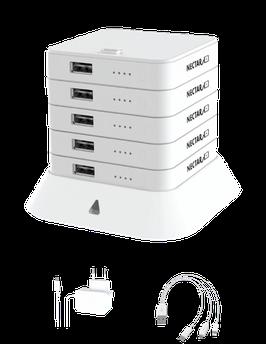 NECTAR 5ER STACK / Powerbank (Lädt Smartphones, Tablets, Fotokameras, Bluethooth- Lautsprecher, AirPods usw.)