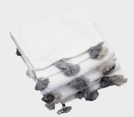 Supersoft Cotton Gästehandtuch mit handgeknüpften Quasten. 1 Stück.