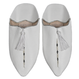 BABOUCHES alabaster white