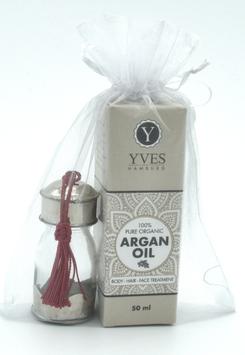 Arganöl mit marrokanischem Gläschen in Geschenkverpackung