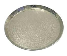Teller Metall, silber, D33cm