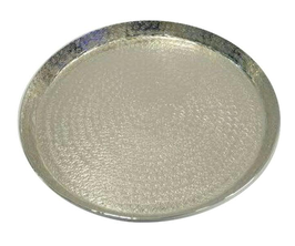 Teller Metall, silber, D50cm