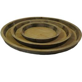 Teller aus Tannenholz