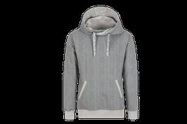 Kapuzensweatshirt mit Karomuster Grau-melange - MAN