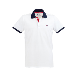 MAN Zweifarbiges Poloshirt - Slim Fit Weiss by twohearts®