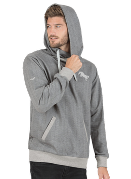 Kapuzensweatshirt mit Karomuster Grau-melange - MAN- NewGeneration