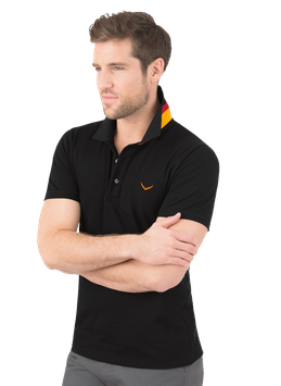 MAN Polo-Shirt Deutschland Schwarz by twohearts®- NewGeneration