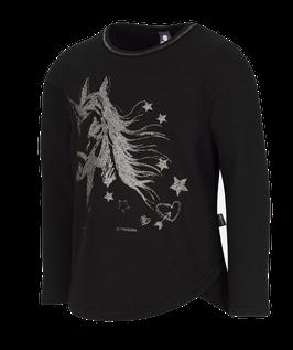Sweater mit Einhorn Schwarz