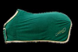 Premium - Fleece  Abschwitzdecke mit echtem Gold Soutache
