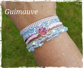 Bracelet multirangs Guimauve