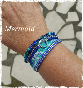 Bracelet multirangs Mermaid