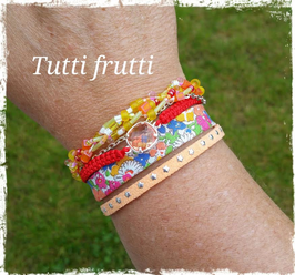 Bracelet multirangs Tutti Frutti