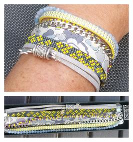 Bracelet multirangs Aurélie