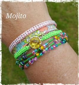 Bracelet multirangs Mojito