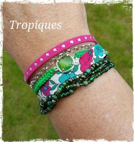 Bracelet multirangs Tropiques