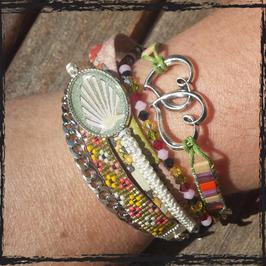 Bracelet multirangs Cabochon