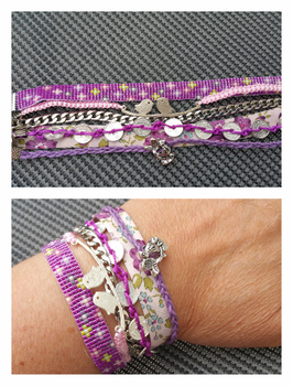 Bracelet multirangs Lilas