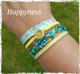 Bracelet multirangs Happyness