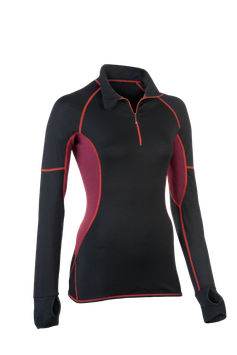Lauf-Shirt black/tango red