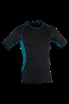 Shirt kurzarm black/hydro