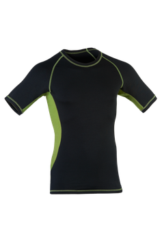 Shirt kurzarm black/lime