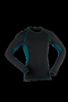 Shirt langarm black/hydro