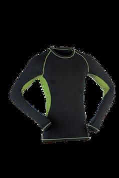 Shirt langarm black/lime