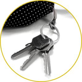 Option doublure : ajout d'un mousqueton range clefs