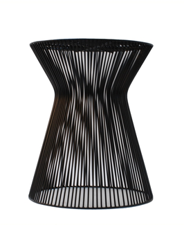 Wire Stool Curve Black