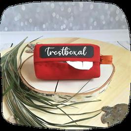 Taschentuchhülle rot mit Spruch