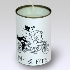 KAARS, recycle, in blik, Mr&Mrs