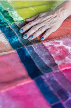 Doubles teintures (noir, violet, vert) sur laine et lin avec Cécilia Aguirre