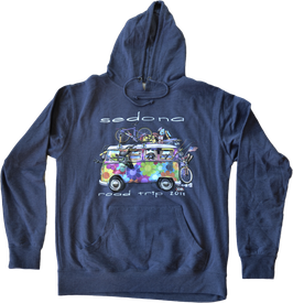 2018 Unisex Hoodie Sedona Road Trip - Heather Navy